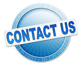 Contact us button blue — Stock Photo