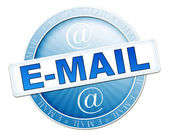 E-mail button blue — Stock Photo