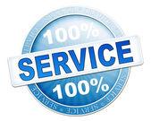 Service button blue — Stockfoto