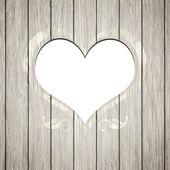 Wooden heart frame — Stock fotografie