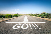 Road with text go — Stock Photo