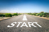 Road  with text start — Stock Photo