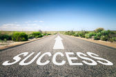 Road with text success — Stock Photo
