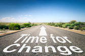 Road  with text time for change — Stock Photo
