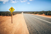 Australia road sign Mallee Fowl — Stock Photo