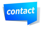 Label with text contact — Stock Photo