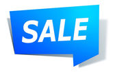 Label with text sale — Stock Photo