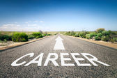 Road with text career — Stock Photo