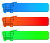 Shopping cart signs — Stock Photo