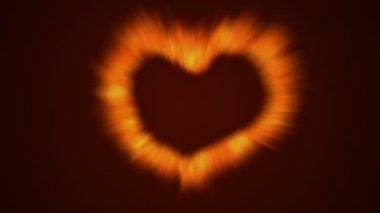 Fire love heart — Stock Video