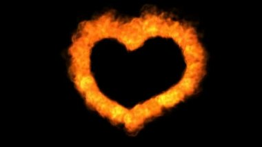 Oheň lásky srdce — Stock video