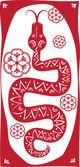 Red snake — Stock Vector