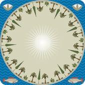 Desert oasis — Vector de stock