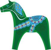 Dalarna horse — Stock Vector