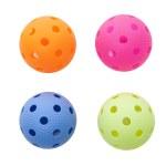 Colored floorballs — Stock Photo