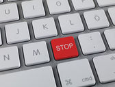 Stop key — Stock Photo