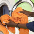 Doing the Laundry — Stock Photo