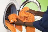 Doing the Laundry — Stock Photo