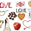 Love Symbol collage — Stock Photo #36186097