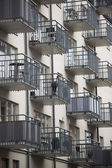Large group of balconys — Stock Photo