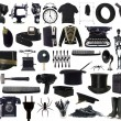 Stock Photo: Black Objects Collage