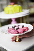 Macaroons and cookies — Stock Photo