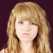 Mad or angry teenager — Stock Photo