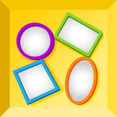 Frames or mirrors at bottom of a box — Stock Vector