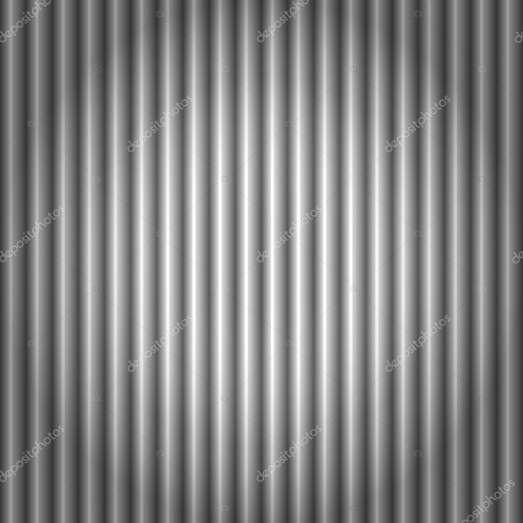 Seamless pattern of cool metallic silver or grey corrugated metal background — Stock Vector #12706489