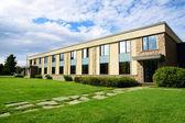 Små företag byggnad eller skolan perspektiv skott — Stockfoto