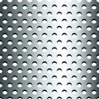 Stock Vector: Seamless stainless metallic grid pattern