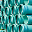 Stack of PVC water pipes — Stock Photo