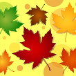 Seamless maple leaves fall colors pattern — Vettoriale Stock #13382281
