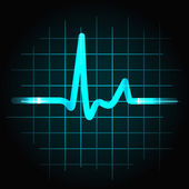 Human heartbeat sinus wave — Vector de stock
