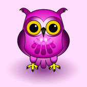 Pink owl — Stock Vector