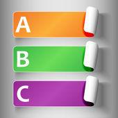 2-peeling etiketleri harfleri ile ayarlama — Stok Vektör