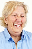 Senior woman laughing — Stock Photo