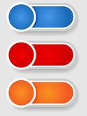 Набор 2 круга и цилиндра этикетки — Cтоковый вектор