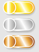 Set 3 of circle and cylinder labels — Vector de stock