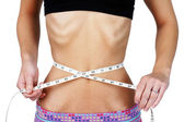 Torso of anorexic young woman — Stock Photo