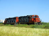 Freight locomotives — Stock Photo