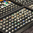 Stock Photo: Handcrafted silver rings with natural stones