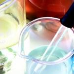 Macro of laboratory glassware — Stock Photo #18158765