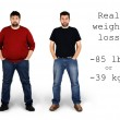Before and after weight loss — Stock Photo