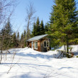 Old wood cabin during winter — Stock Photo #18158711