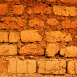 Stock Photo: Wall of red earth bricks