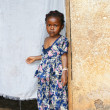 Serious little African girl - Stok fotoğraf