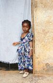Serious little African girl — Stock Photo
