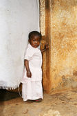 Cute but sad little African girl — Stock Photo