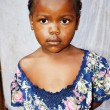 Portrait of a very cute little African girl — Stock Photo